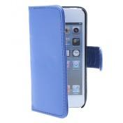 Ledertasche mit Karten Slot und Tasche für iPhone 5 (blau)