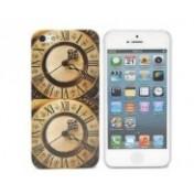 Doppel-Uhr Schutzhülle für das iPhone 5 - Braun