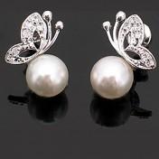 Tassel Schmetterling-Perlen Ohrringe