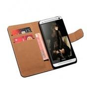Leder Case mit Kartenslot für HTC One M7