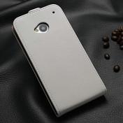 Flip Style Leder-Case für HTC One M7 weiss