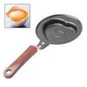 Mini Herzpfanne für Eier und Pfannkuchen mit Antihaft Beschichtung