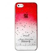 Blasen transparente Hülle für iPhone 5 / 5s, rot