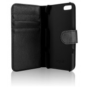 Xqisit Slim Wallet Case schwarz für iPhone 5S