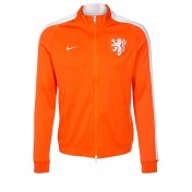 Niederlande Trainingsjacke - safety orange/white