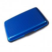 Aluma Geldbeutel mit RFID-Schutz blau