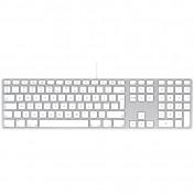 Apple USB Alu Keyboard mit Ziffernblock. Layout: Schweiz