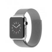 Apple Watch 38mm Edelstahlgehäuse mit Milanaise-Armband