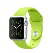 Apple Watch Sport 38mm Aluminiumgehäuse, Silver, mit Sportarmband, Green