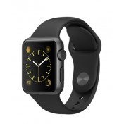 Apple Watch Sport 38mm Aluminiumgehäuse, Space Gray, mit Sportarmband, Black