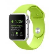 Apple Watch Sport 42mm Aluminiumgehäuse, Silver, mit Sportarmband, Green