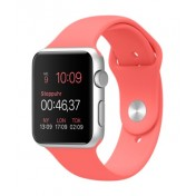 Apple Watch Sport 42mm Aluminiumgehäuse, Silver, mit Sportarmband, Pink