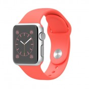 Apple Watch Sport 38mm Aluminiumgehäuse, Space Gray, mit Sportarmband, Pink