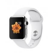 Apple Watch 38 mm Edelstahlgehäuse mit Sportarmband, White
