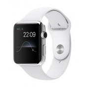Apple Watch 42 mm Edelstahlgehäuse mit Sportarmband, White