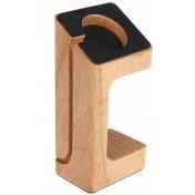 Ständer Dock für Apple Watch helles Braun