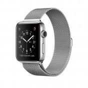 Apple Watch Series 2 38 mm Edelstahlgehäuse Milanaise-Armband silber