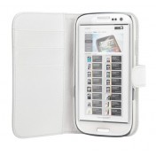 Xqisit Wallet Leather Case für Galaxy S III - Weiss