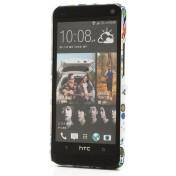 HTC One Hardcase Hülle Flower Power - Weiss Bunt