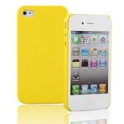 Gelbe Schutzhülle für das iPhone 4 im Netz Muster