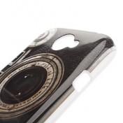 Retro Style-Kamera Pattern Hard Case für HTC One S