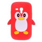 Pinguin (rot) Hülle für Samsung Galaxy S3 Mini