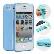 Süssigkeit-Farben-Schutzhülle für iPhone 4/4S (blau)